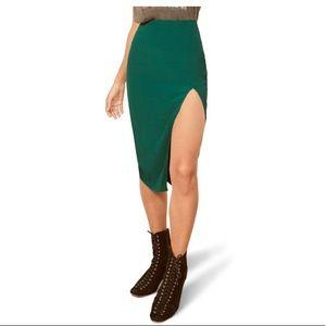 REFORMATION Nicks Side Slit Pencil Skirt
